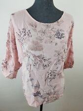 """Neues Bagatelle Paris Damen Shirt """"Kennedy"""" Gr 42 Rosa mit Blumen NEU/OVP"""