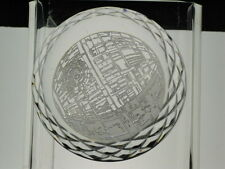 Very Rare Waterford Crystal Star Wars Death Star Paperweight Signed