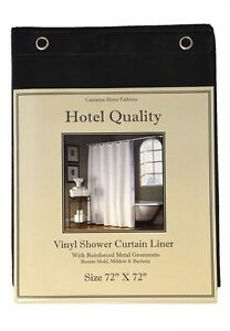 "Heavy Weight Hotel Quality 8-gauge Vinyl  Shower Liner: 72"" x 72"" 4 Colors"