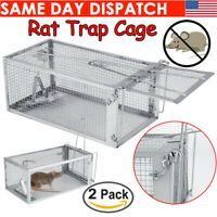 2X Live Humane Cage Mouse Trap Rat Hamster Catch Control Bait Hunting Survival