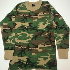 Vintage 80s Field And Stream Camouflage Thermal Shirt XL