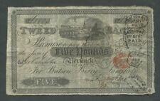 More details for scotland tweed bank  £5  1839  fine   world paper money