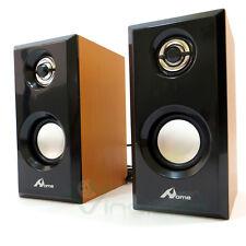 Casse Altoparlanti IGGY speaker legno PC otg portatile computer mp3 USB 3Wx2 CSP