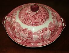 """ENOCH WOODS """"ENGLISH SCENERY""""  WOOD & SONS  11-1/2""""  COVERED VEGETABLE BOWL"""