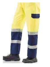 pantalone alta visibilità catarifrangente fluorescente misto cotone giallo XXL