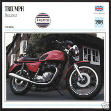 1989 Triumph Buccaneer 750 (744cc) Motorcycle Photo Spec Sheet Info Stat Card