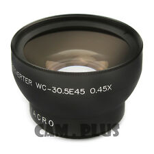 30.5 mm 0.45X Wide Angle Lens With Macro For JVC Camcorder GZ-MG630 Canon ZR960