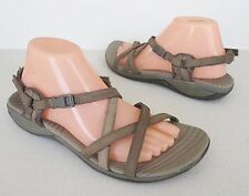Women's MERRELL Aster Bungee Taupe Leather Strappy Slingback Sport Sandals 10/41
