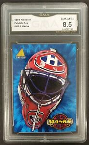 1994-95 Pinnacle Masks Patrick Roy Insert Card #MA1 Montreal Canadiens - GMA 8.5