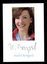 Katrin Bongard Autogrammkarte Original Signiert ## BC 102211