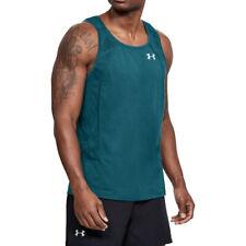 Under Armour UA Threadborne Swyft Mens Red Gym Sports Running Vest L