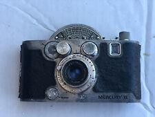 1945 MERCURY II CX 35mm 1/2 Frame CAMERA w/UNIVERSAL TRICOR Lens / Made in USA