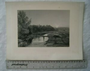 c1870 engraving Tutbury Castle