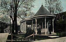 Excelsior Springs Missouri~Sulpho-Saline Spring~Men In Gazebo~1911 Postcard