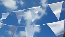 White Wedding Bunting - Wholesale - Luxury white fabric bunting 50m 200 flags