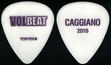 New listing Volbeat-Rare 2016 Tour Guitar Pick-Rob Caggiano-Anthrax! White/Purple Name+Year!