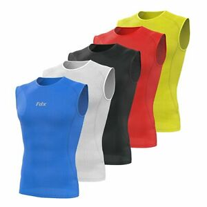 FDX Mens Sleeveless Cool Mesh Base Layer Lightweight Running fitness Cycling Top