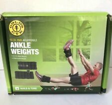 Golds Gym 10 lbs Pair Adjustable Ankle Weights Fitness Workout