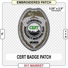 CERT Badge Patch Community Emergency Response Team FEMA United States US   F 114