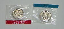 1969 D & S Jefferson Nickel BU Mint Cello 2 coins