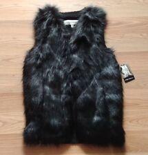 NWT Women's SEBBY Black Faux Fur Vest Jacket Size 2XL XXL