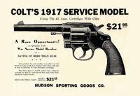 Colt Revolver 1917 Blechschild Metallschild Schild gewölbt Tin Sign 20 x 30 cm
