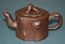 FINE CHINESE ZISHA PURPLE SAND TEAPOT FINELY CARVED NATURAL MATERIAL IK9292