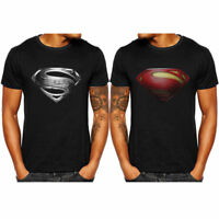 Superman Men's T-Shirt Superhero Short T-Shirts Gym Sports Jersey Fitness Tops