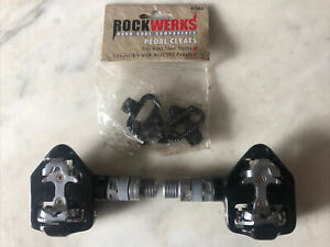 New-Old-Stock WELLGO RC-713 Clipless Road Pedals & 98A Cleats • Black