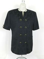 Vintage  EXECUTIVE COLLECTION Womens Double Breasted Blazer Size 8 Black