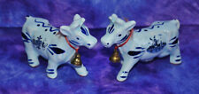 VINTAGE Delft (?) BLUE COW SALT & PEPPER SHAKERS