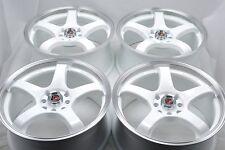 15 white wheels rims Civic Accord CRX Del Sol Aveo Integra Corolla 4x100 4x114.3
