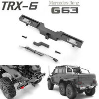 Metal Rear Bumper with LED Light Set For TRAXXAS TRX-6 BENZ G63 6X6 RC Crawler