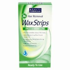 Hair Removal 36 Wax Strips or 2 for Inc P&P Womens Face Bikini