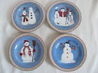 Sakura by Oneida - Debbie Mumm Snowman- Set of 4 Salad Plate(s)- Up to 4 Avail