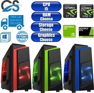 Fast Intel Core i5 9400F Desktop Gaming Computer PC 2TB 16GB 6GB GTX 1660