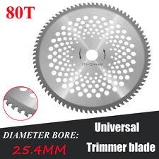 10'' 80T Teeth Carbide Tip Blade For Brush Cutter Trimmer 25.4mm Bore Diameter