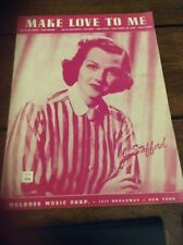 """""""MAKE LOVE TO ME"""" 1953 sheet music- Jo Stafford photo cover"""