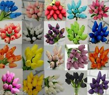 1 x LATEX REAL TOUCH TULIPS BOUQUETS WEDDING BOUQUET ARTIFICIAL TULIP 12 HEADS