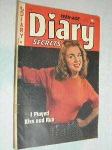 Teen-Age Diary Secrets #6 G Rare Marilyn Monroe Cover Matt Baker St John