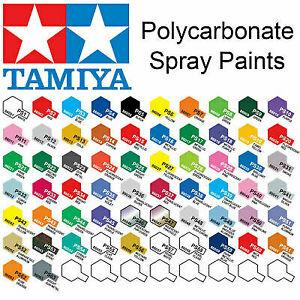 Tamiya PS-1 - PS-63 100ml Polycarbonate/Lexan Spray Paint