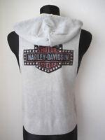 Harley Davidson Studded B&S Damen Hoodie Shirt Pullover ärmellos 99098-18VW