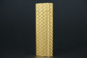 Cartier Lighter Chevron Gold plated Vintage For repair #CR50