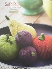 KNITTING PATTERN Bowl of Fruit Red & Green Apple Pear Plum Home Decor DMC DK