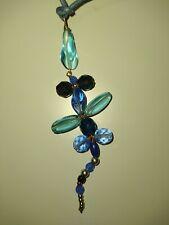 Collana ciondolo libellula azzurra turchese blu