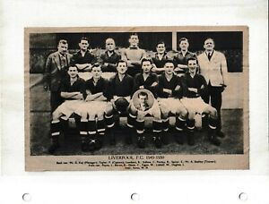 1949/0 WEEKLY TELEGRAPH TEAM PICTURE - LIVERPOOL
