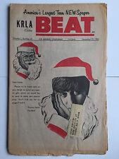 KRLA Beat Vintage Music December 25 1965 Beatles Marvin Gaye Elvis Hullabaloo