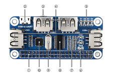 4 Ports USB HUB HAT for Raspberry Pi B+/2B/3B/3B+/Zero/Zero W CP2102 USB to UART