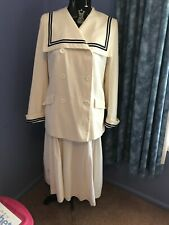 VINTAGE LAURA ASHLEY FULL LINED DOUBLE BREASTED SAILORS SUIT SIZE 12 EXCELLENT C