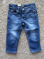 NWT Silver Pantalon Capri Denim Dk Wash Top Stitched Capri Shorts Girls Size 10